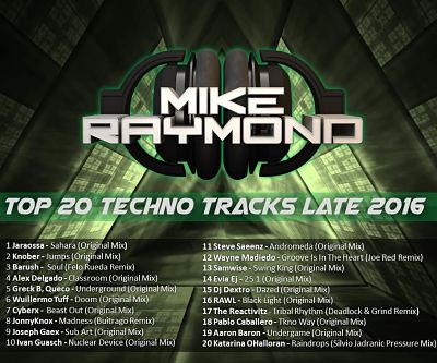 Top 20 Techno Tracks Late 2016