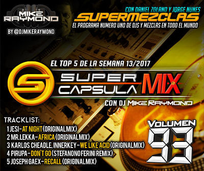SuperCapsulaMix de Dj Mike Raymond Volumen 93